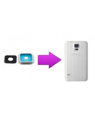 -changlentillearsams5-Remplacement lentille arrière Samsung Galaxy S5
