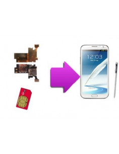 Changement lecteur SIM SAMSUNG Galaxy Note 2