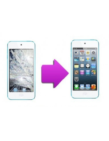 -changvitretactilelcdit5-Changement vitre tactile + LCD iPod Touch 5