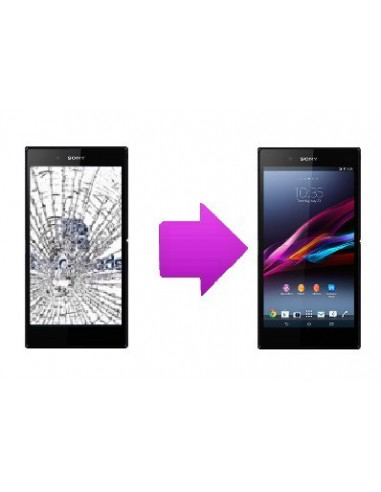 -changlcd+tactilesonyxzultra-Changement LCD + vitre tactile Sony Xperia Z Ultra