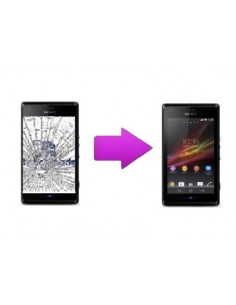 Changement vitre tactile Sony Xperia M
