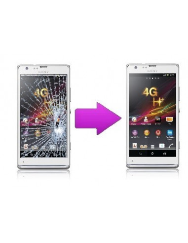 -changtactilesonyxu-Remplacement vitre tactile Sony Xperia SP