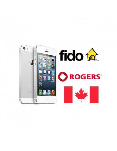 Désimlockage iPhone Fido-Rogers CA